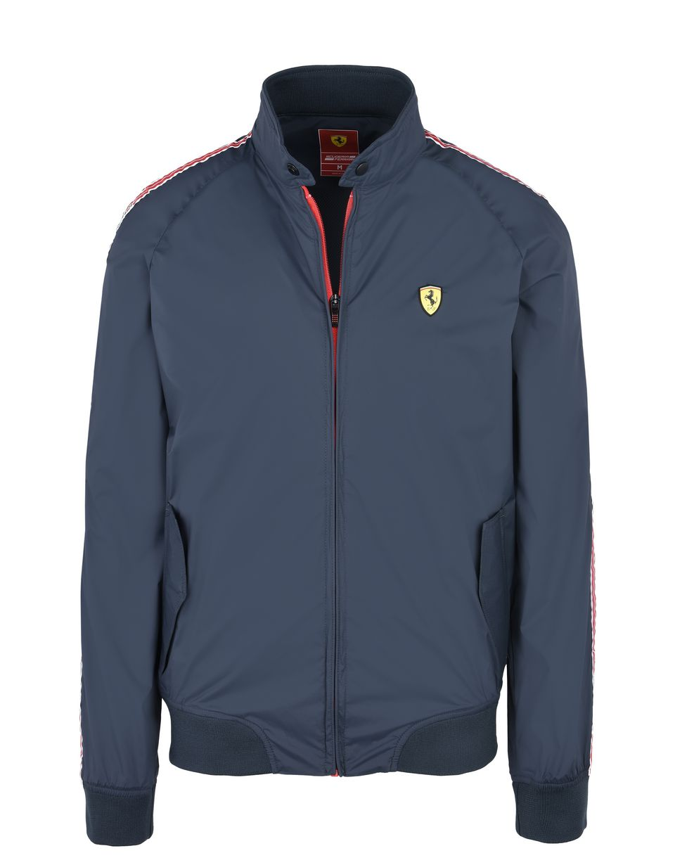 Scuderia Ferrari Online Store - Men's rain jacket with Scuderia Ferrari Icon Tape - Raincoats