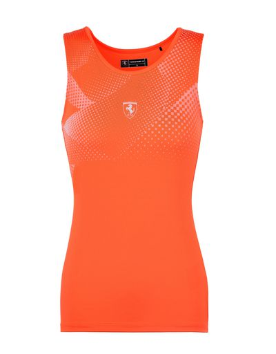 Scuderia Ferrari Online Store - Women's sports top in breathable fabric - Tank Tops