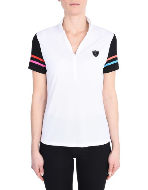 Breathable polo shirt in technical fabric with Shield on the breast