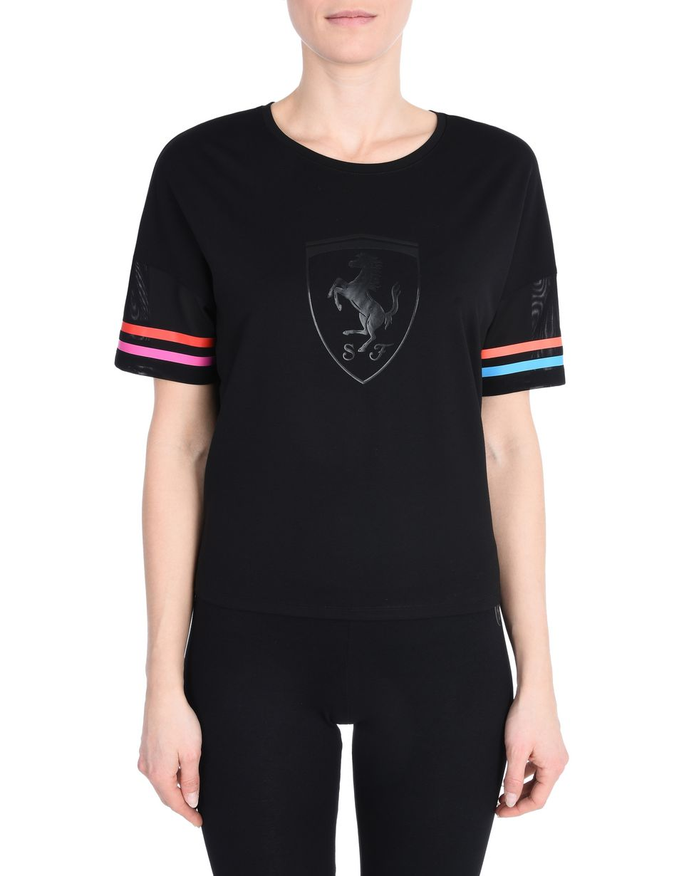 Scuderia Ferrari Online Store - Batwing sleeve sweater with Shield - Short Sleeve T-Shirts