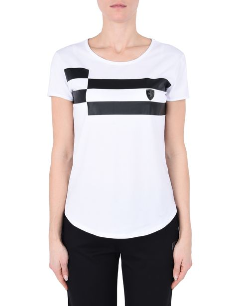 Women's short-sleeve shirt with checkerboard pattern