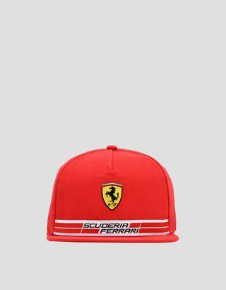 Scuderia Ferrari Online Store - Children's cotton Scuderia Ferrari cap with Icon Tape - Baseball Caps