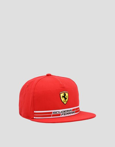 Children's cotton Scuderia Ferrari cap with Icon Tape