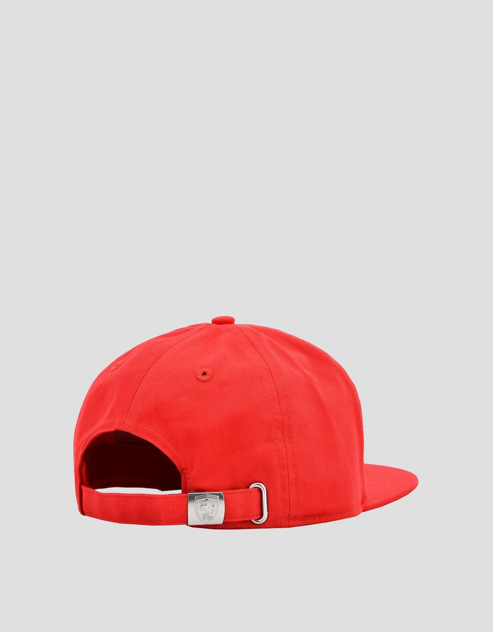 Scuderia Ferrari Online Store - Kid's cotton Scuderia Ferrari cap with Icon Tape - Baseball Caps