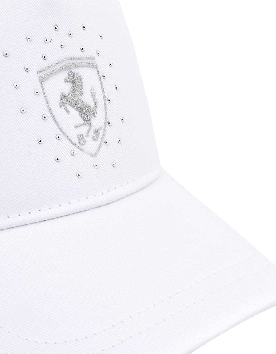 Scuderia Ferrari Online Store - Girl's Scuderia Ferrari cap with glitter Shield - Baseball Caps