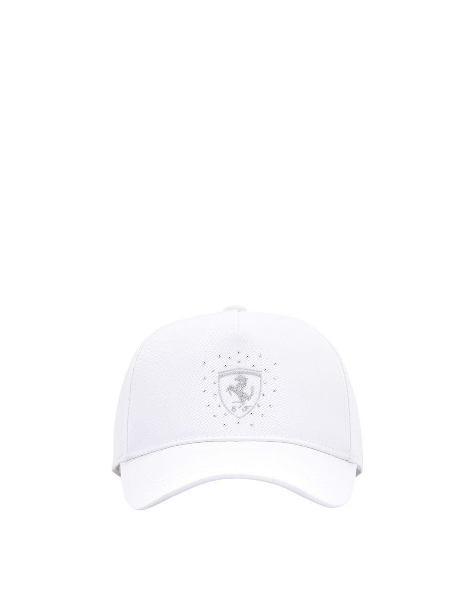 Scuderia Ferrari Online Store - Scuderia Ferrari-Mütze für Mädchen mit glitzerndem Ferrari-Abzeichen - Basecaps