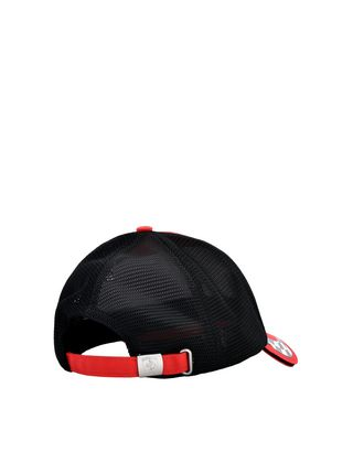 Scuderia Ferrari Online Store - Scuderia Ferrari cab with visor in cotton and technical fabric - Baseball Caps