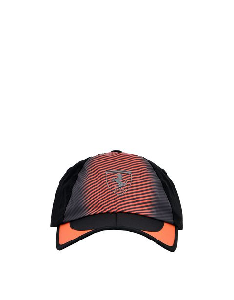 Folding cap with curved visor