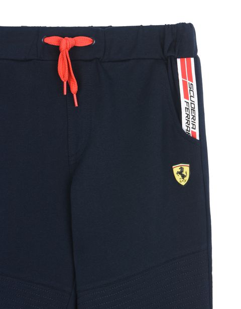 Scuderia Ferrari Online Store - Tracksuit bottoms for teens with Scuderia Ferrari Icon Tape -