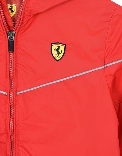 Scuderia Ferrari Online Store - Hooded jacket for teens with Scuderia Ferrari Icon Tape -