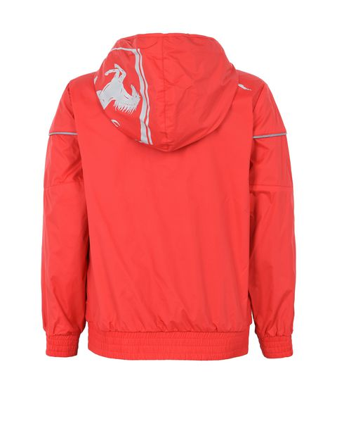 Hooded jacket for teens with Scuderia Ferrari Icon Tape