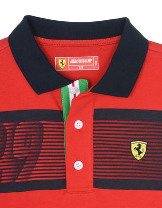 Scuderia Ferrari Online Store - Children's short-sleeve polo shirt -