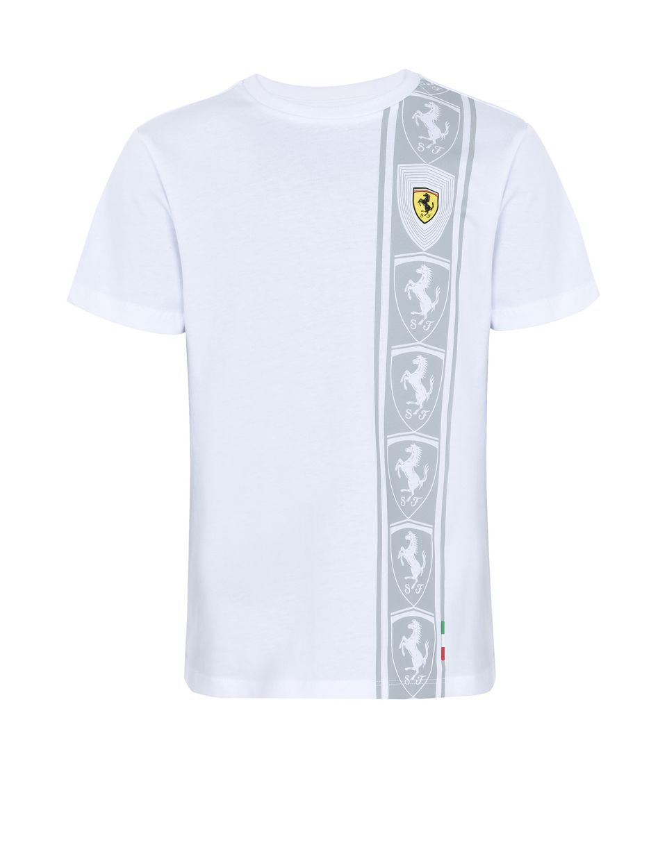Scuderia Ferrari Online Store - Cotton jersey T-shirt for teens with print - Short Sleeve T-Shirts
