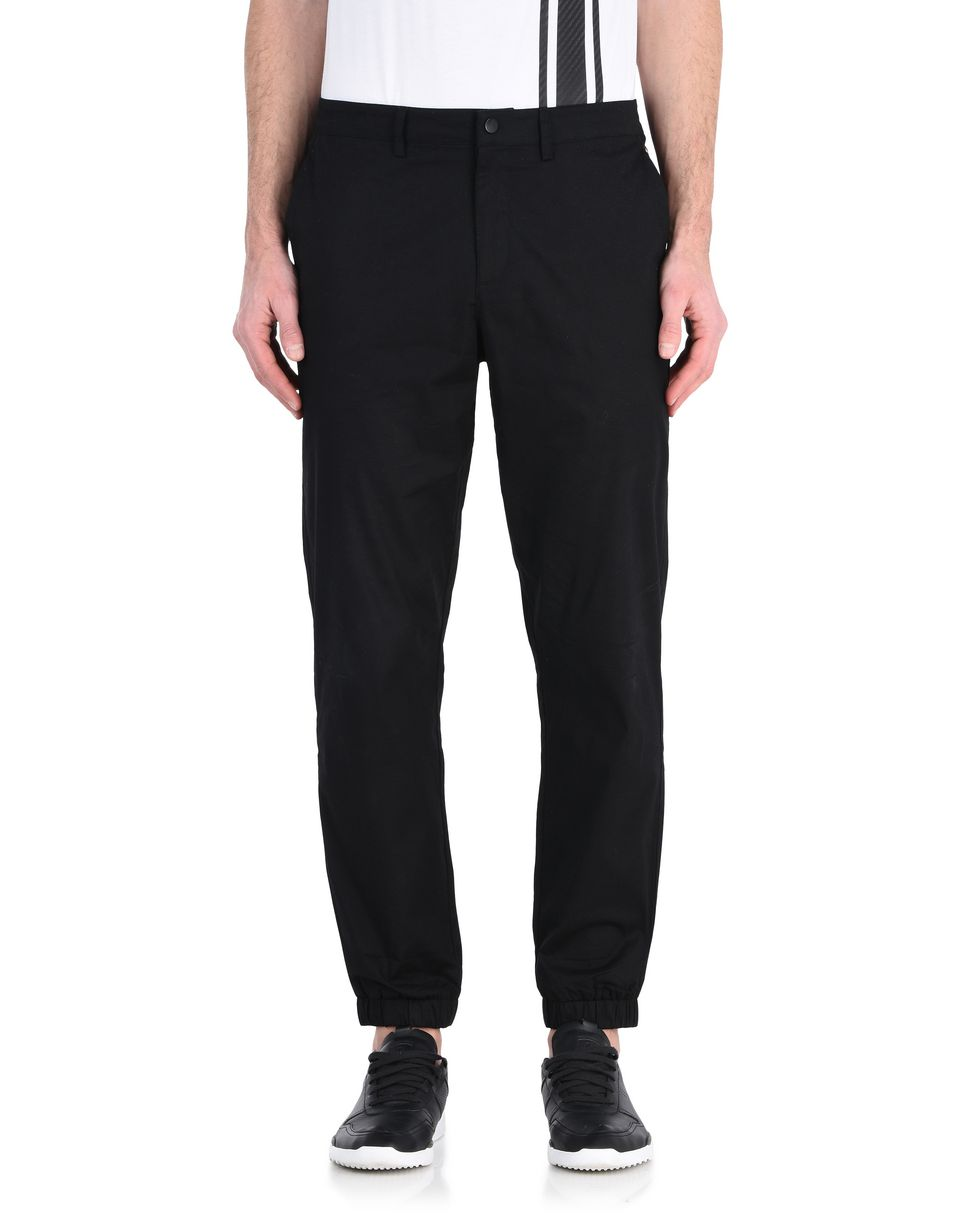 Scuderia Ferrari Online Store - Men's stretch poplin tracksuit bottoms -