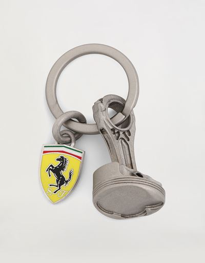 Keyring with miniature rod and piston from the 2004 F1 Scuderia Ferrari car