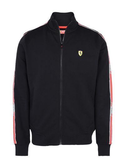 Scuderia Ferrari Online Store - Men's zip sweatshirt with Scuderia Ferrari Icon Tape -