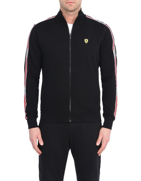 Men's zip sweatshirt with Scuderia Ferrari Icon Tape