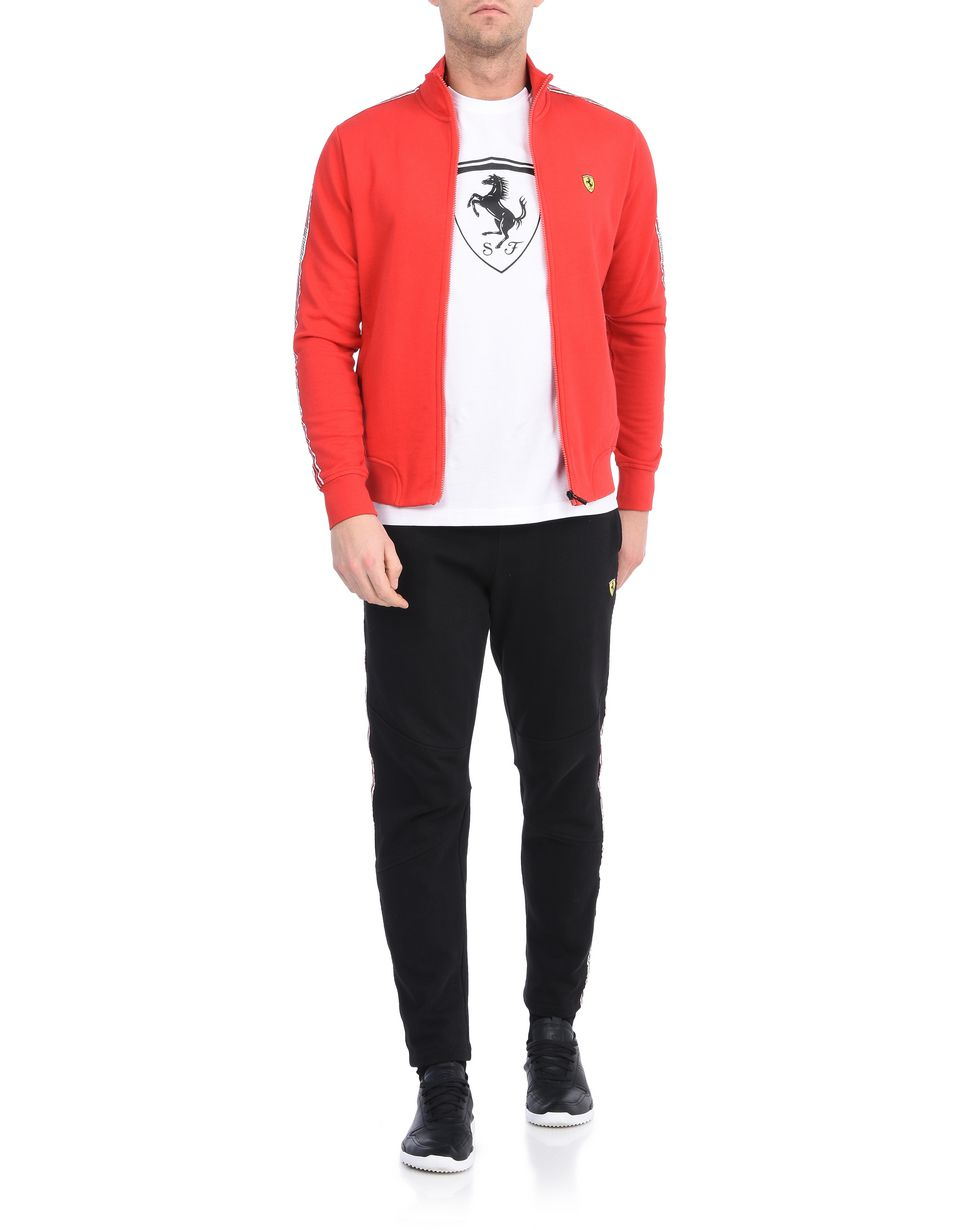Scuderia Ferrari Online Store - Men's zip sweatshirt with Scuderia Ferrari Icon Tape -