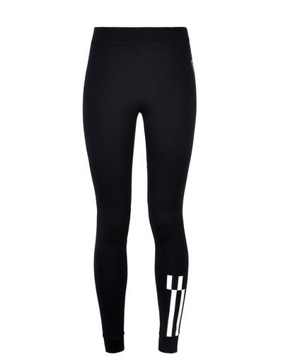 Scuderia Ferrari Online Store - Women's stretch cotton chequerboard leggings - Tights & Yoga Pants