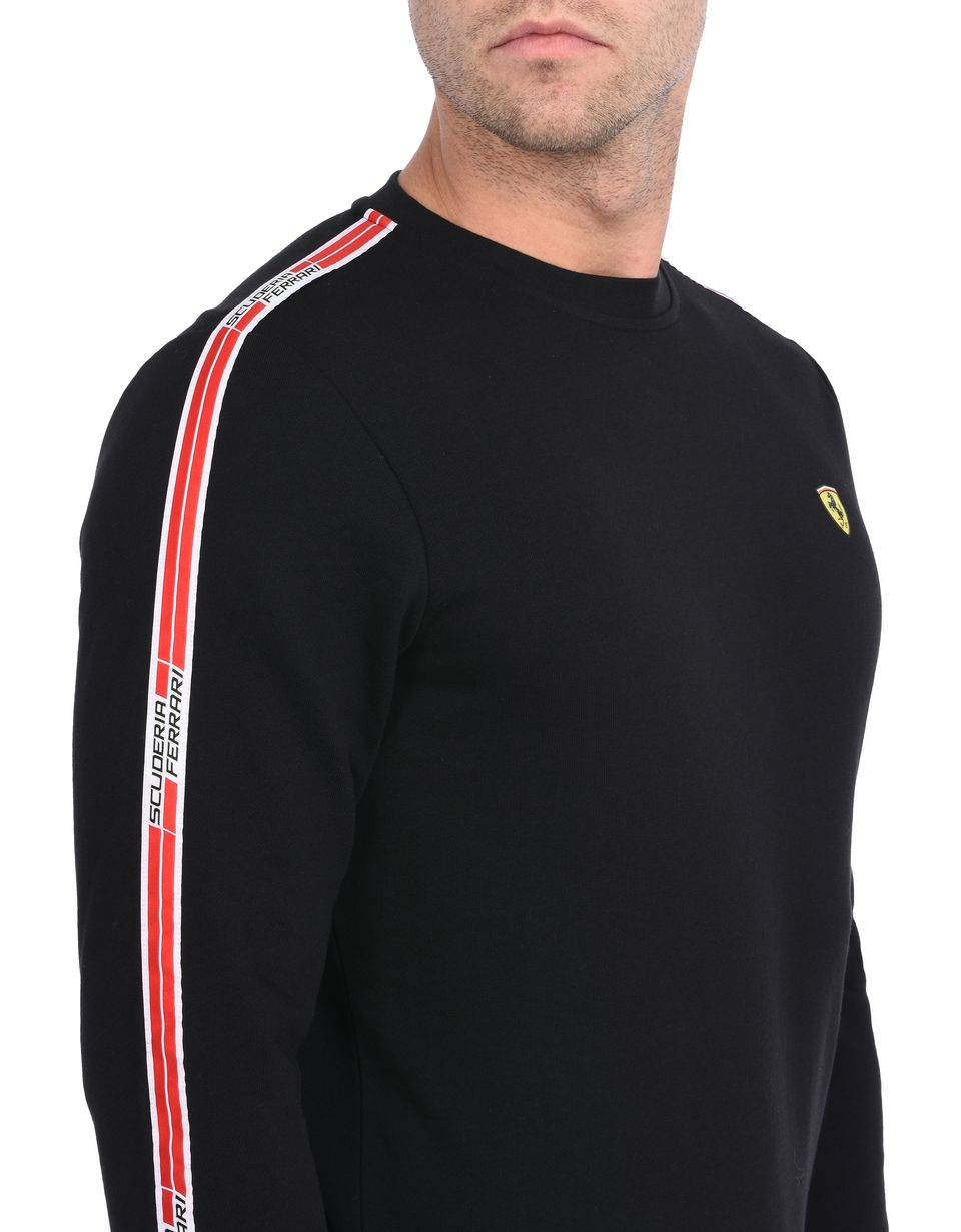 Scuderia Ferrari Online Store - Men's crewneck sweatshirt with Icon Tape - Crew Neck Sweaters