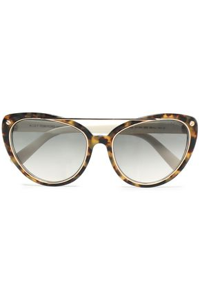 e80134461 Cat-eye tortoisehsell acetate and gold-tone sunglasses   TOM FORD ...