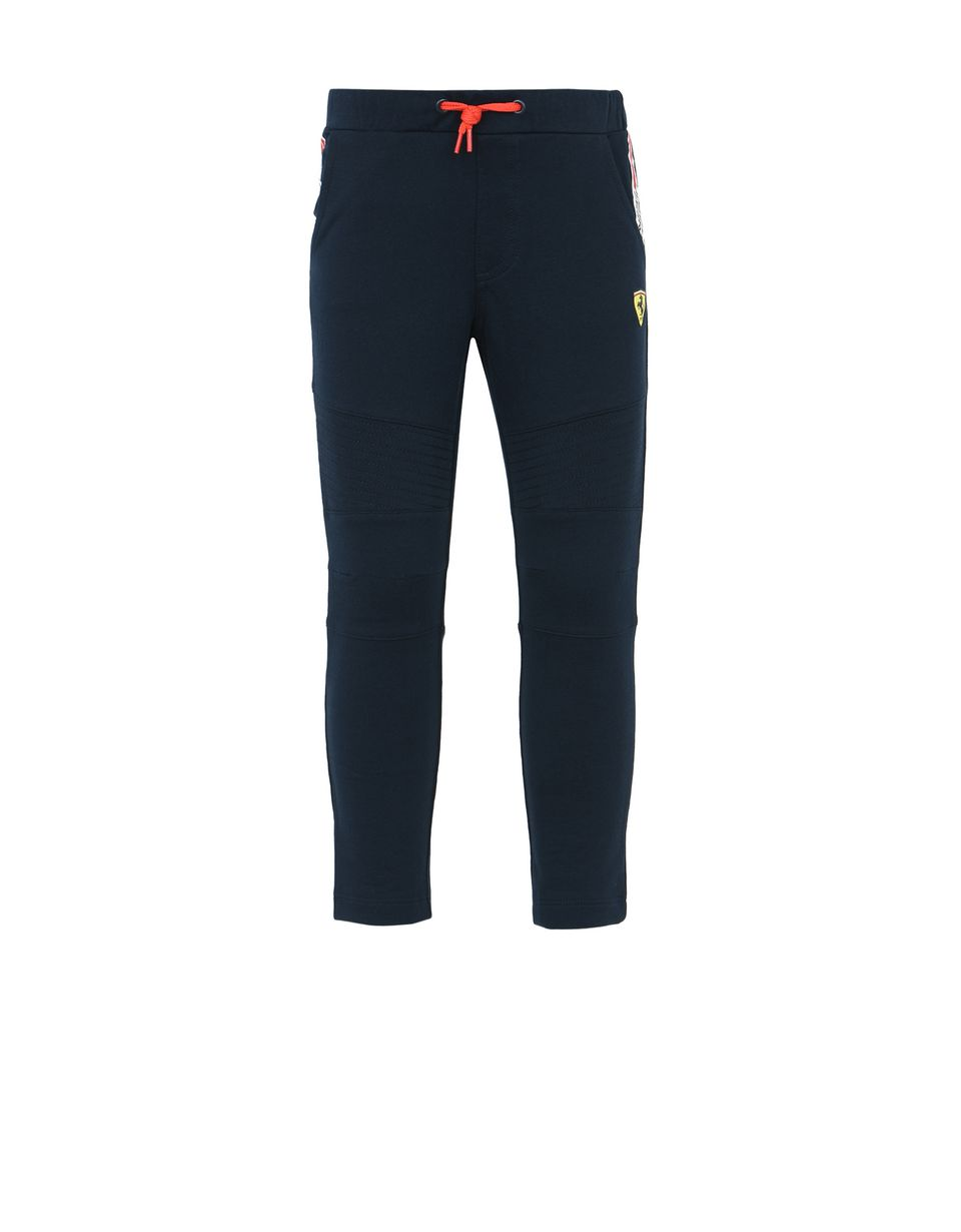 Scuderia Ferrari Online Store - Tracksuit bottoms for teens with Scuderia Ferrari Icon Tape - Joggers