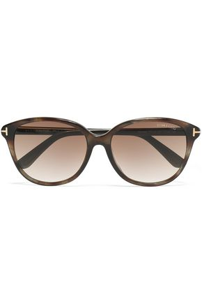 TOM FORD D-frame tortoiseshell acetate and gold-tone sunglasses
