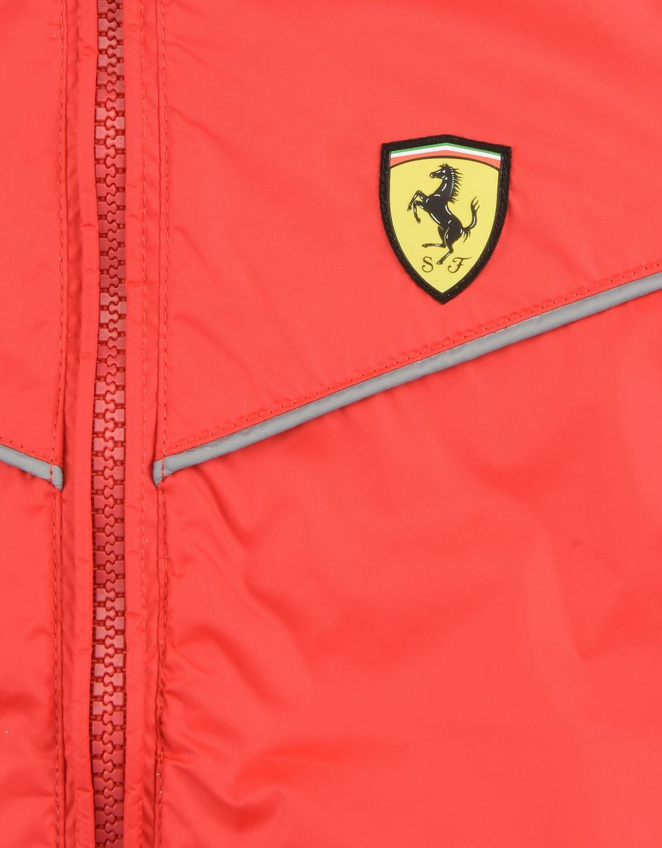 Scuderia Ferrari Online Store - Hooded jacket for teens with Scuderia Ferrari Icon Tape -