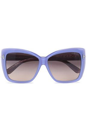 TOM FORD Butterfly-frame acetate and silver-tone sunglasses