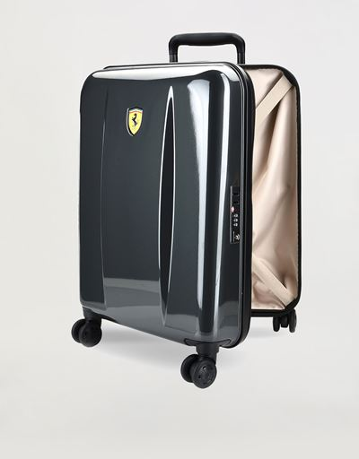 Hard-shell wheeled cabin suitcase with Ferrari Shield