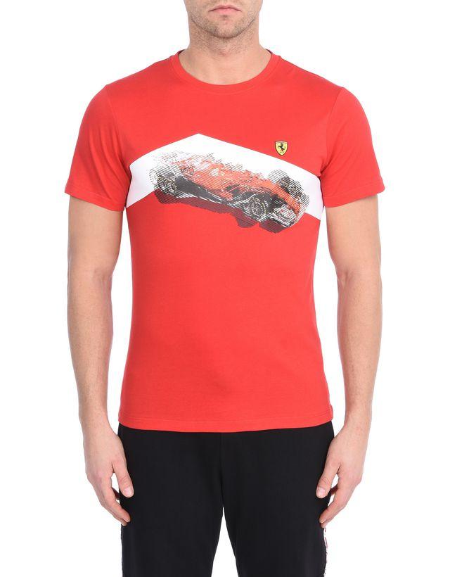 Scuderia Ferrari Online Store - T-Shirt with exclusive Scuderia Ferrari print - Short Sleeve T-Shirts