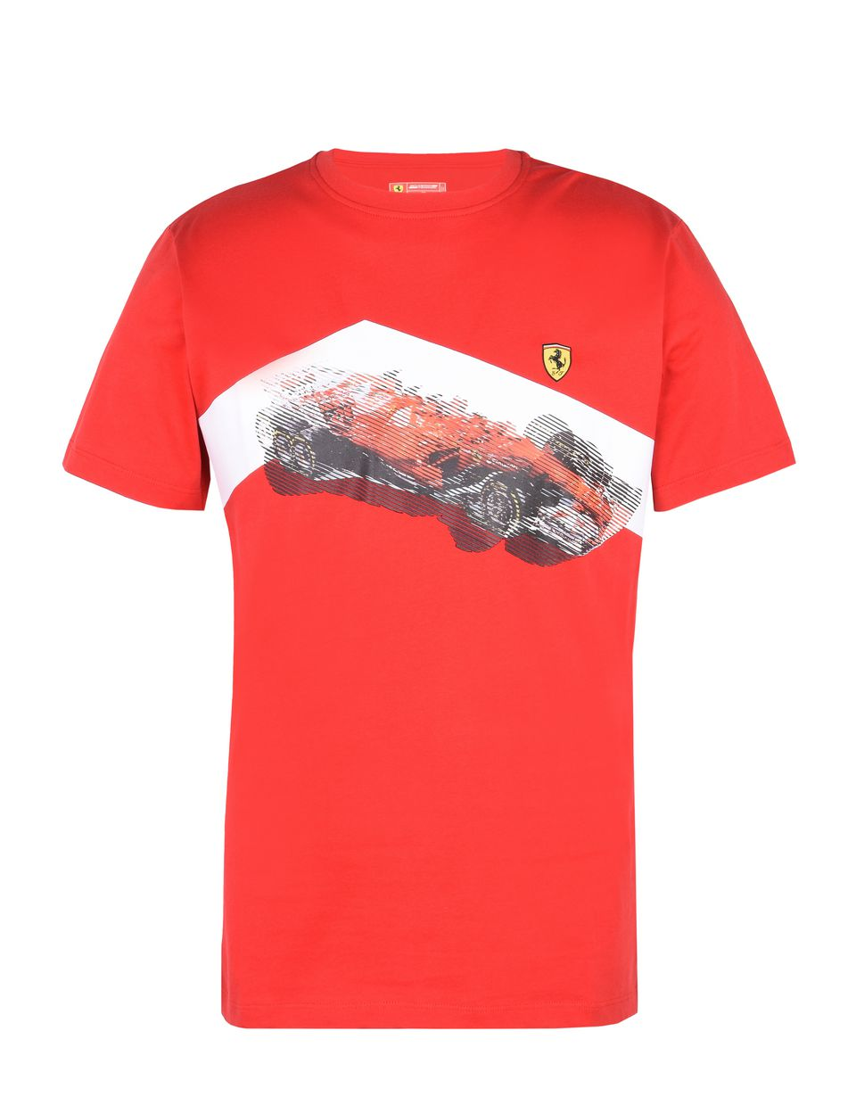Scuderia Ferrari Online Store - T-Shirt with exclusive Scuderia Ferrari print - Short Sleeve T-Shirts