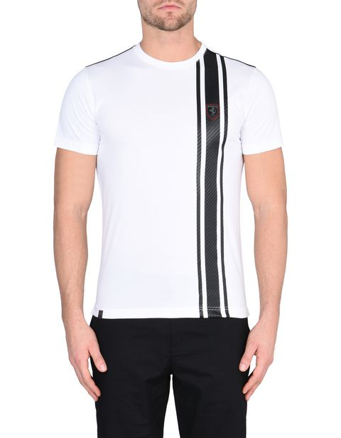 Men's short-sleeve T-shirt with carbon fiber print