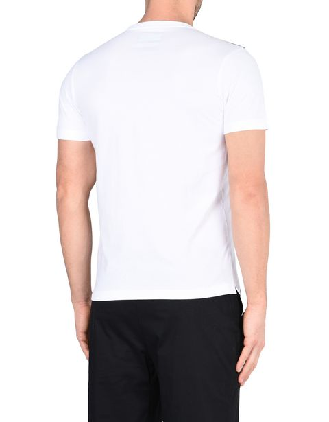 Men's short-sleeve T-shirt with carbon fibre print