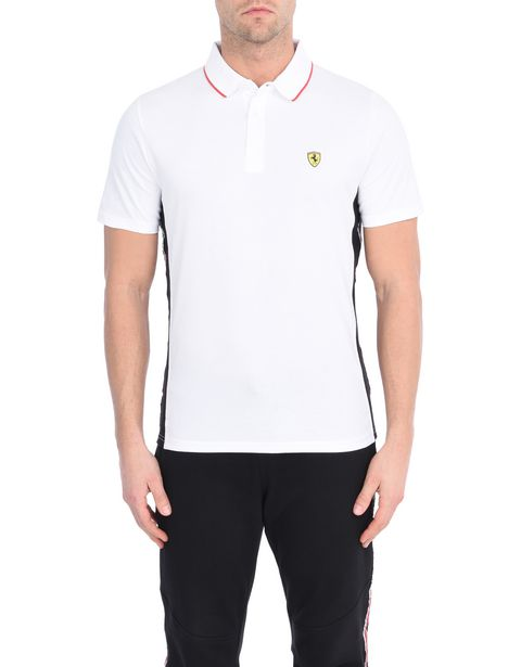 Short-sleeve Scuderia Ferrari polo shirt with Icon Tape