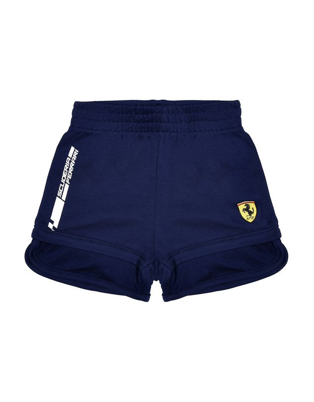 Scuderia Ferrari Online Store - Baby shorts with Shield and Scuderia Ferrari logo - Shorts