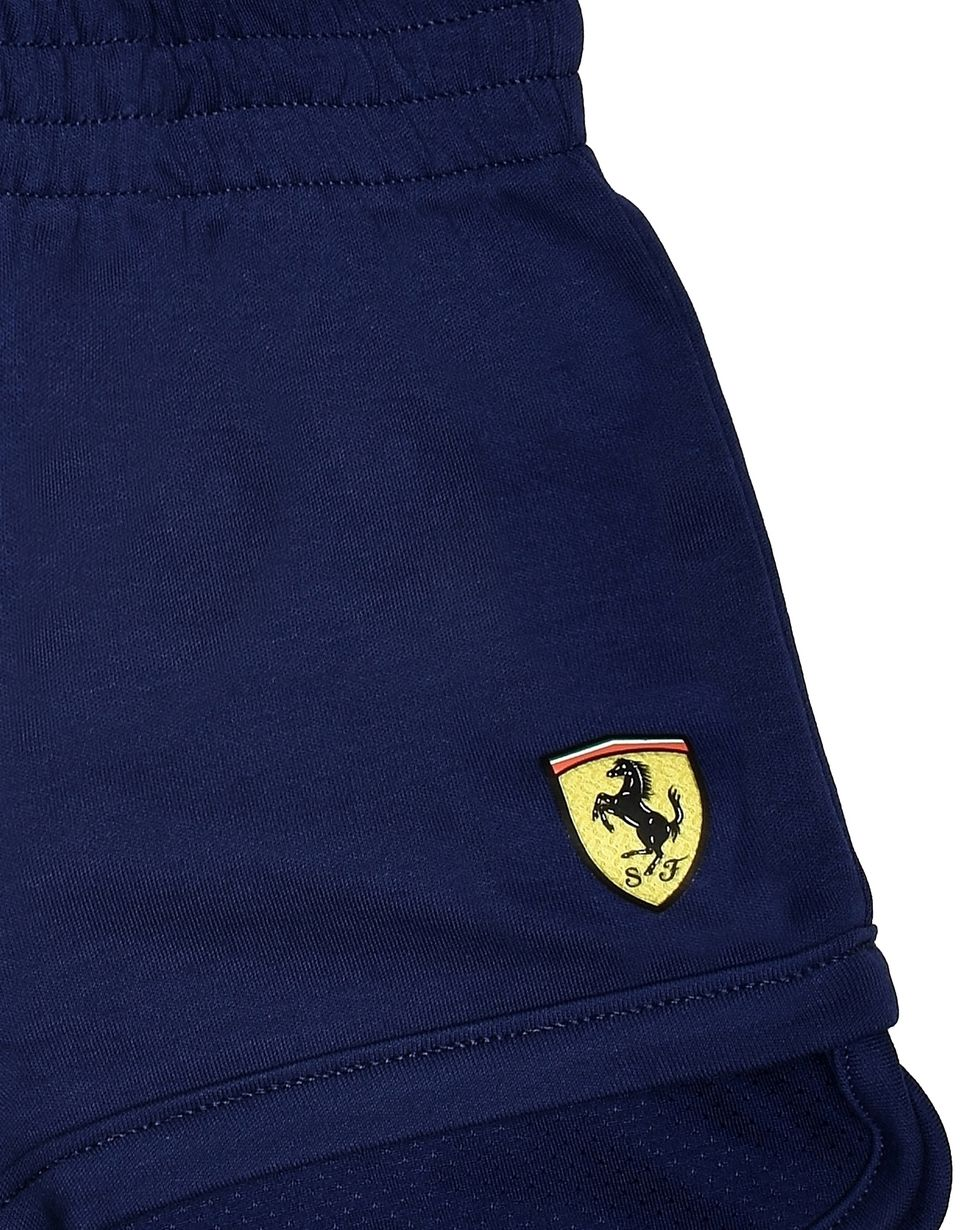 Scuderia Ferrari Online Store - Baby shorts with Shield and Scuderia Ferrari logo -