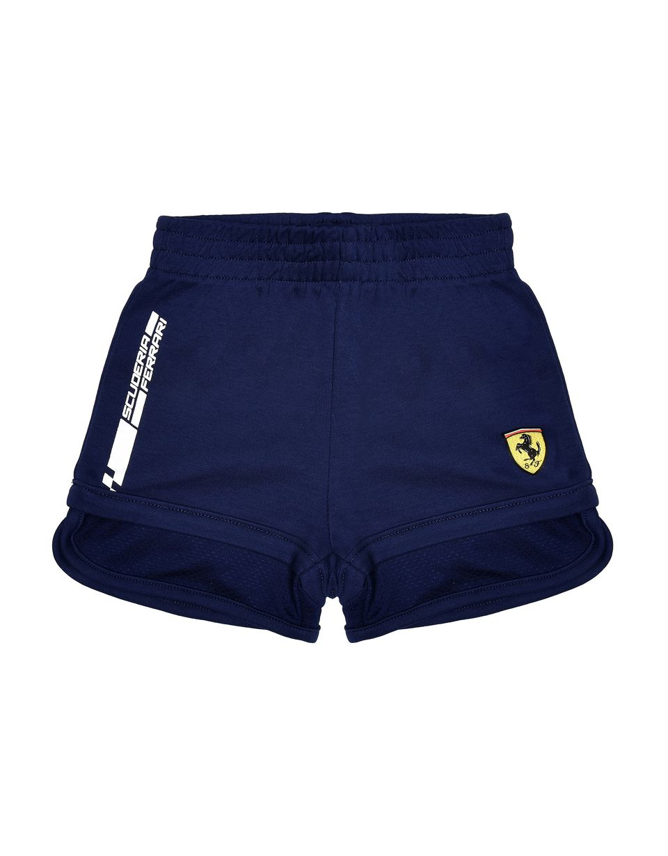 Scuderia Ferrari Online Store - Baby shorts with Shield and Scuderia Ferrari logo - Shorts