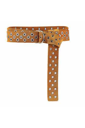 IRO Eyelet-embellished suede belt
