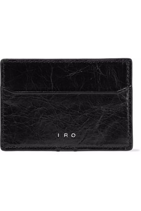 IRO Cracked-leather cardholder