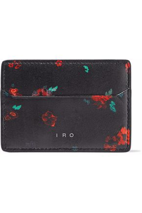 IRO Floral-print leather cardholder