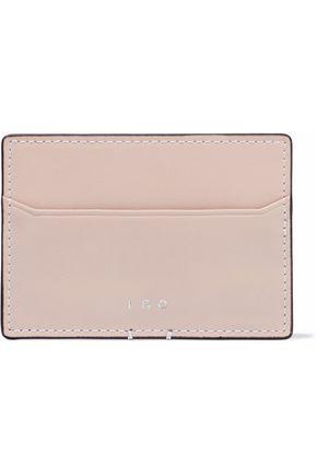 IRO Cracked-leather cardholder