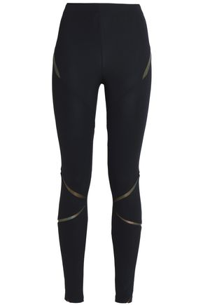 SÀPOPA Metallic printed stretch leggings