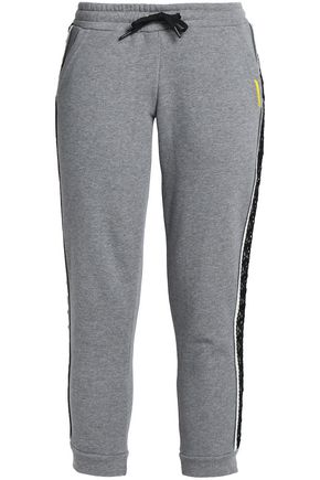 SÀPOPA Macramé-trimmed cotton track pants