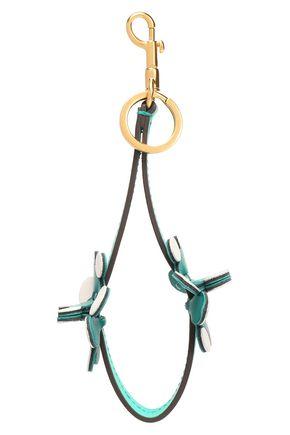 ANYA HINDMARCH Floral-appliquéd leather keychain