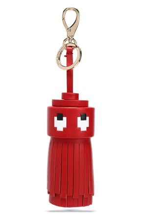 ANYA HINDMARCH Ghost printed leather tassel keychain