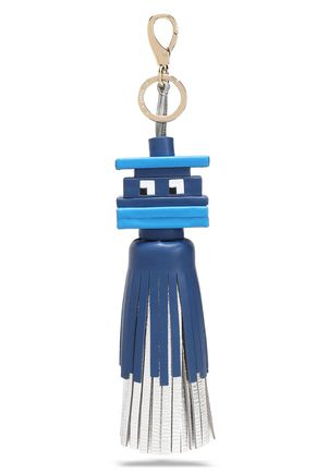ANYA HINDMARCH Space Invaders printed leather tassel keychain