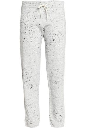 MONROW Metallic printed jersey track pants