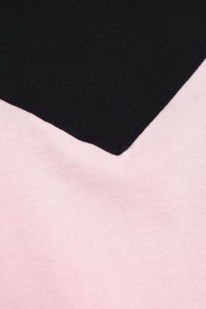 SÀPOPA Two-tone cotton-jersey T-shirt