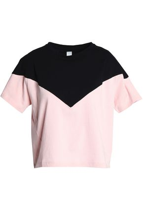 SÀPOPA Two-tone cotton-jersey T-shirt